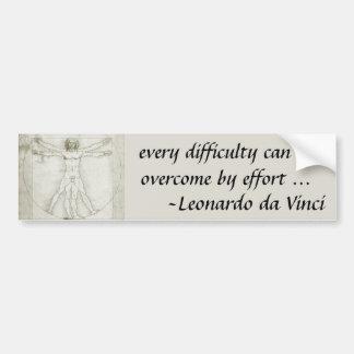 Autocollant De Voiture Homme de Vitruvian par Leonardo da Vinci
