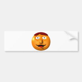 Autocollant De Voiture Homme souriant orange avec son tounge
