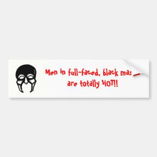 Autocollant De Voiture Hommes dans les masques noirs….