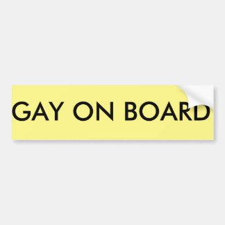 Autocollant De Voiture homosexuel à bord d'adhésif pour pare-chocs de