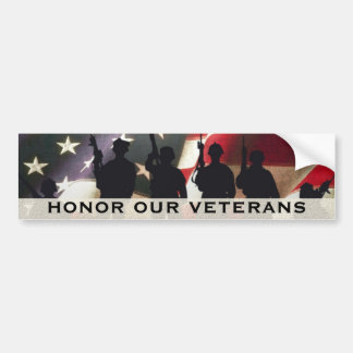 Autocollant De Voiture Honorez nos vétérans militaires