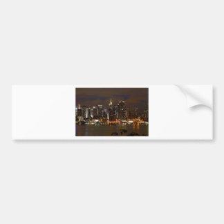 Autocollant De Voiture Horizon de nuit de Manhattan