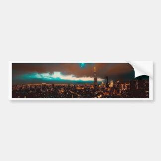 Autocollant De Voiture Horizon de nuit de Taïpeh
