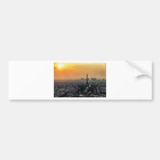 Autocollant De Voiture Horizon de Paris pendant le matin