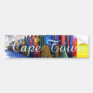 Autocollant De Voiture Huttes de plage de Cape Town