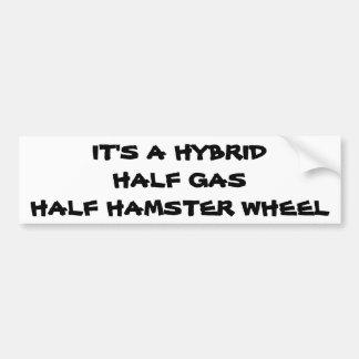 Autocollant De Voiture Hybride : Demi de roue de hamster de demi de gaz