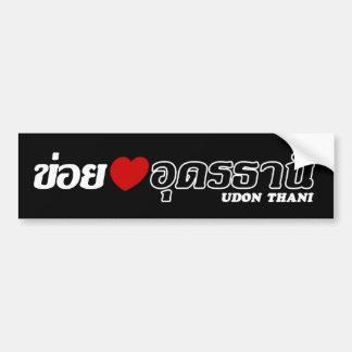 Autocollant De Voiture I coeur (amour) Udon Thani, Isan, Thaïlande