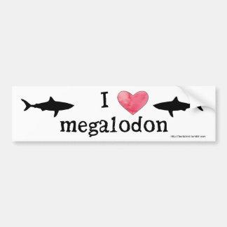 Autocollant De Voiture I coeur Megalodon
