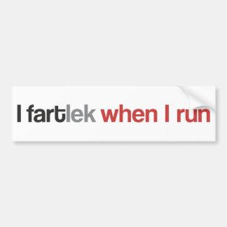 Autocollant De Voiture I FARTlek quand je cours le © - coureur drôle