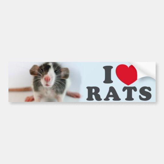 Autocollant De Voiture I love (blazed) Rats