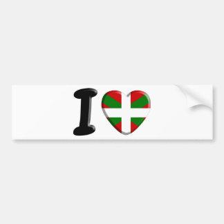Autocollant De Voiture I love Pays Basque