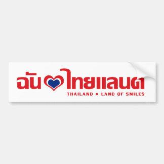 Autocollant De Voiture I manuscrit de langue thaïlandaise de ❤ de la