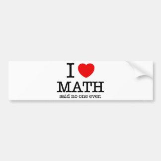 Autocollant De Voiture I maths de coeur
