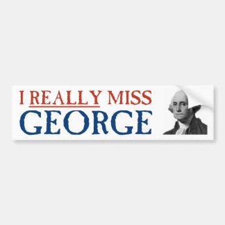 Autocollant De Voiture I vraiment Mlle George Washington