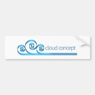 Autocollant De Voiture Icône de concept d'Internet de nuage