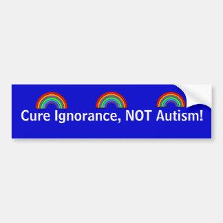 Autocollant De Voiture Ignorance de traitement, pas autisme !