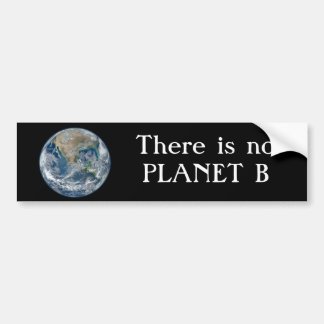 """Autocollant De Voiture """"Il n'y a aucune planète B"""" avec la terre bleue"""