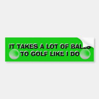 Autocollant De Voiture Il prend beaucoup de boules pour jouer au golf