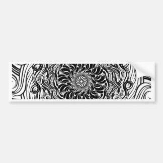 Autocollant De Voiture Illusion optique de griffonnage fleuri de zen