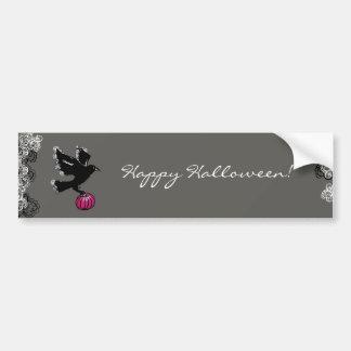 Autocollant De Voiture illustration de Halloween d'un corbeau et d'un