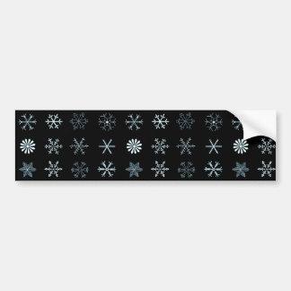 Autocollant De Voiture Illustrations des flocons de neige (noir)