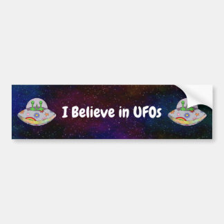 Autocollant De Voiture Ils viennent dans l'UFO de paix que je crois à