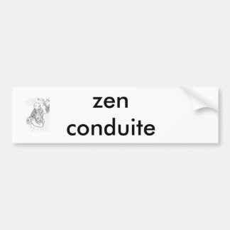 Autocollant De Voiture imageszen2, zen conduite