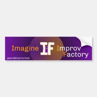 Autocollant De Voiture Imaginez l'adhésif pour pare-chocs 2016 d'Improv