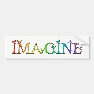 Autocollant De Voiture IMAGINEZ le message inspiré