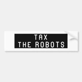 Autocollant De Voiture Imposez le noir de robots