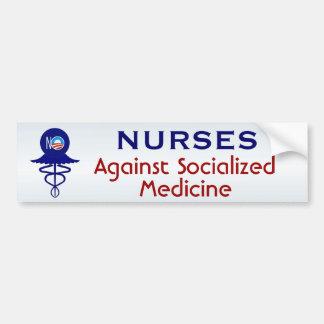 Autocollant De Voiture Infirmières contre la médecine socialisée