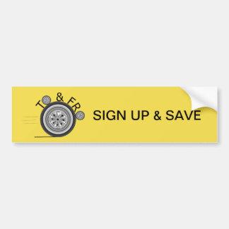 Autocollant De Voiture Inscrivez-vous et sauvez le pare-chocs