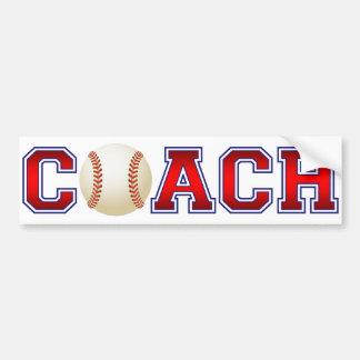 Autocollant De Voiture Insignes gentils de base-ball d'entraîneur