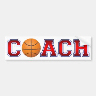 Autocollant De Voiture Insignes gentils de basket-ball d'entraîneur