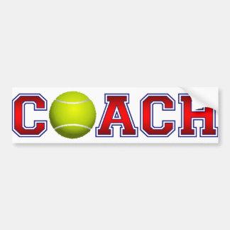 Autocollant De Voiture Insignes gentils de tennis d'entraîneur
