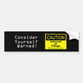 Autocollant De Voiture Internet de panneau d'avertissement de précaution