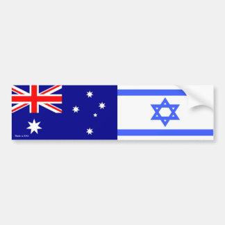 Autocollant De Voiture Israélien et Australien marque l'adhésif pour