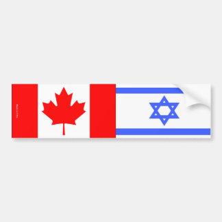 Autocollant De Voiture Israélien et Canadien marque l'adhésif pour