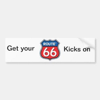 Autocollant De Voiture Itinéraire 66