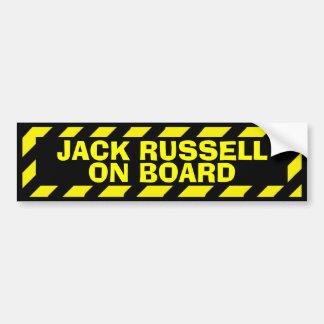 Autocollant De Voiture Jack Russell à bord d'autocollant jaune de