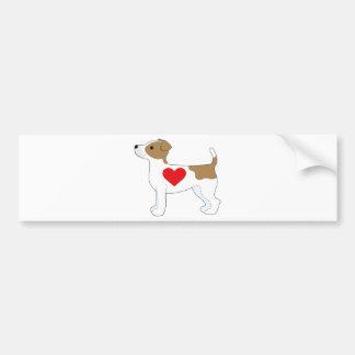 Autocollant De Voiture Jack Russell Terrier