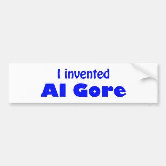 Autocollant De Voiture J'ai inventé Al Gore