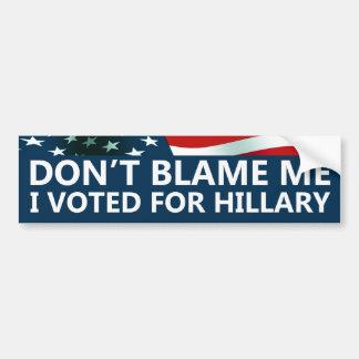 Autocollant De Voiture J'ai voté pour Hillary