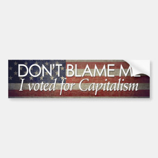 Autocollant De Voiture J'ai voté pour le capitalisme