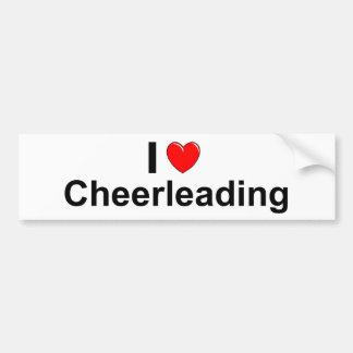 Autocollant De Voiture J'aime Cheerleading de coeur