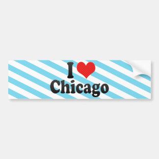 Autocollant De Voiture J'aime Chicago