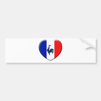 Autocollant De Voiture J'aime coq drapeau France