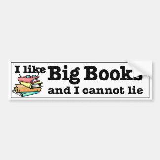 Autocollant De Voiture J'aime de grands livres et je ne peux pas me