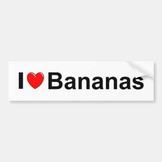 Autocollant De Voiture J'aime des bananes de coeur