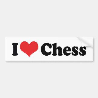 Autocollant De Voiture J'aime des échecs de coeur